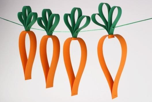 Guirlande de carottes - Tutos Pâques - 10doigts.fr