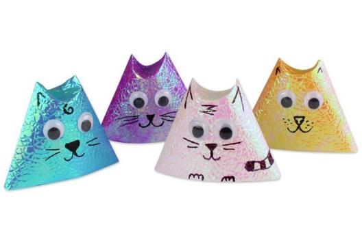 Origami chat - Je fais des décorations en origami - 10doigts.fr