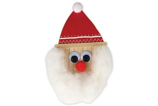 Père Noël en bâtonnets - Noël - 10doigts.fr