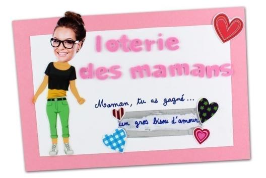 Ticket de loterie pour la fête des mères - Tutos Fête des Mères - 10doigts.fr