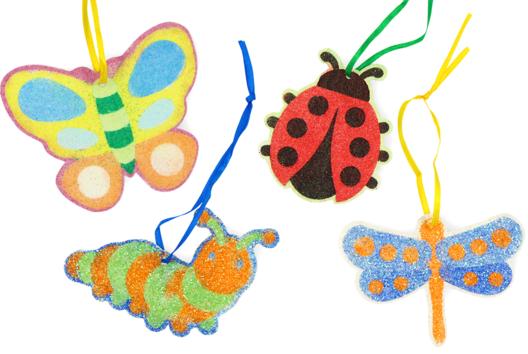 Insectes à sabler ou à pailleter - Cartes à gratter, à sabler - 10doigts.fr