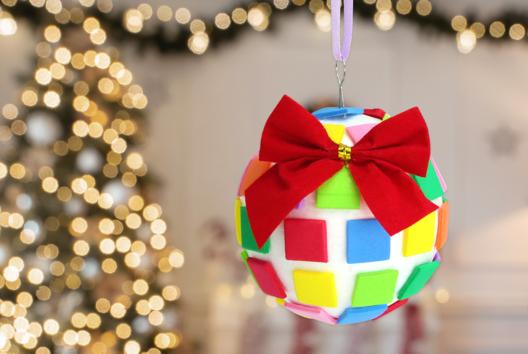 Boule de Noël mosaïques - Mosaïques - 10doigts.fr