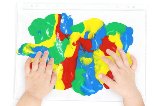Peinture propre pour bébés et enfants - Peinture - 10doigts.fr