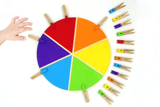 La roue des couleurs - Montessori - Peinture - 10doigts.fr