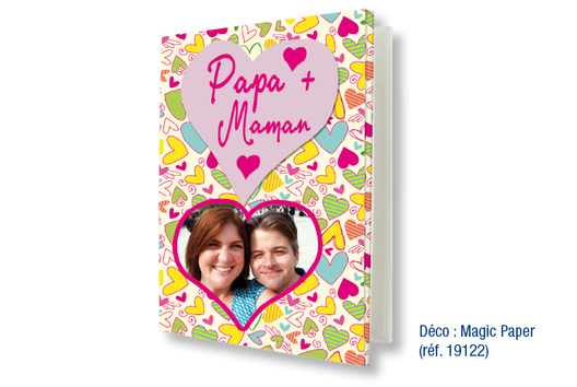 """Album photo """"Papa et Maman"""" - Décoration d'objets - 10doigts.fr"""