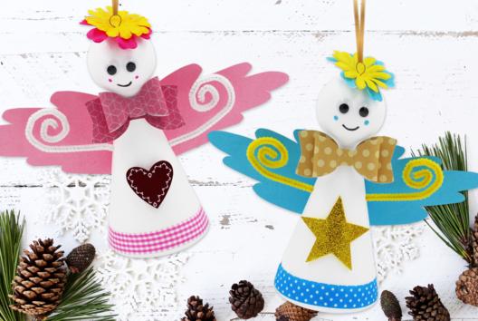 Anges de Noël - Décoration du sapin - 10doigts.fr