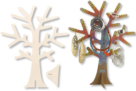 Arbre porte-bijoux en bois - Tutos Fête des Mères - 10doigts.fr