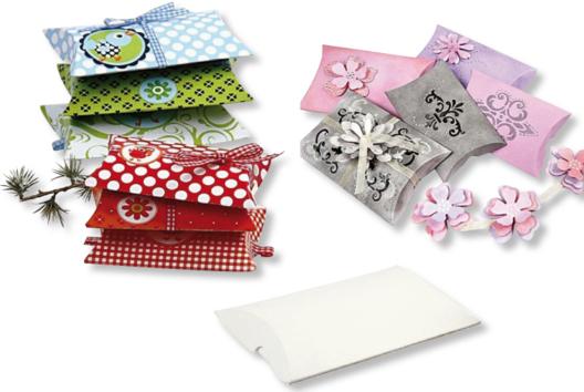Boîtes à cadeau en carte blanche - Emballages Créatifs - 10doigts.fr