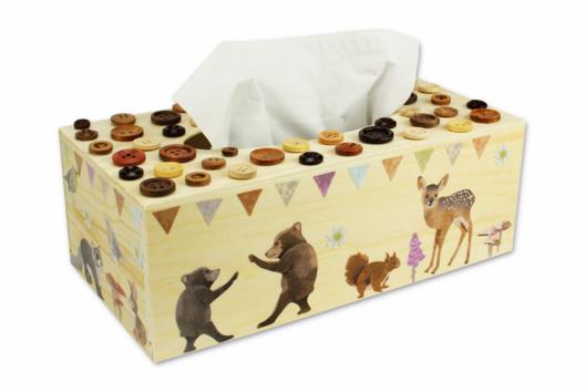 Boîte à mouchoirs animaux de la forêt - Décoration d'objets - 10doigts.fr