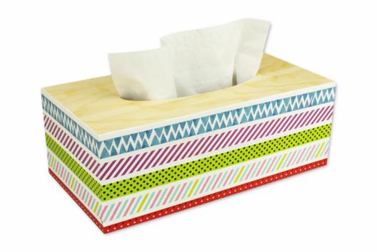 Boîte à mouchoirs masking tape - Décoration d'objets - 10doigts.fr