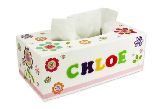 Boîte à mouchoirs fleurie - Décoration d'objets - 10doigts.fr