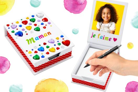 Une jolie boîte à notes pour maman - Fête des Mères - 10doigts.fr