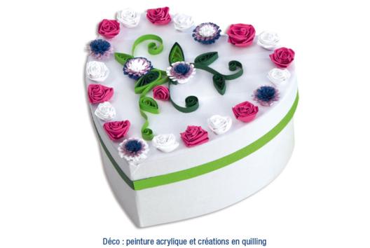 Boîte coeur en Quilling - Tutos Fête des Mères - 10doigts.fr