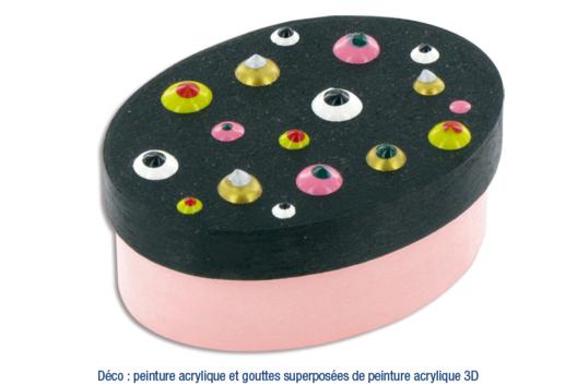 Boîte en copeaux de bois Déco peinture craquelée - Décoration d'objets - 10doigts.fr