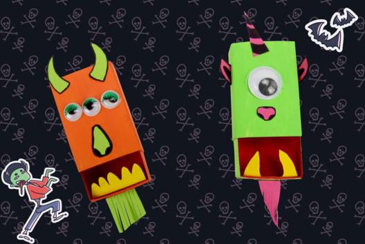 Les monstres boites d'allumettes - Décoration d'objets - 10doigts.fr
