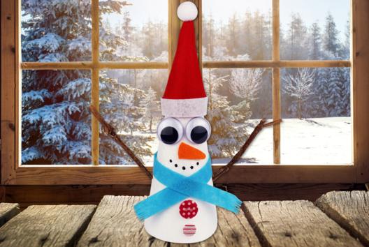 Bonhomme de neige conique - Personnages rigolos - 10doigts.fr