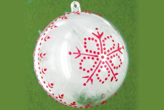 Boule de Noël - Je décore une boule - 10doigts.fr