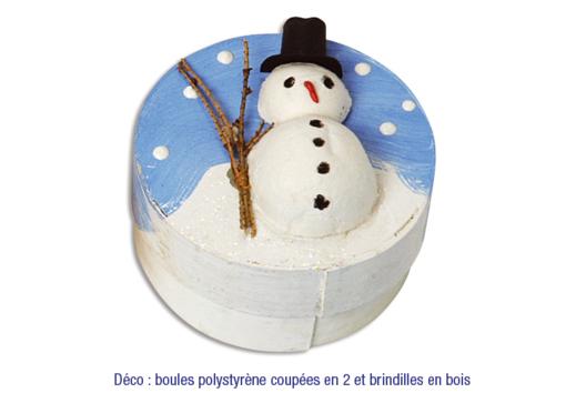 Boïte bonhomme de neige - Décoration d'objets - 10doigts.fr