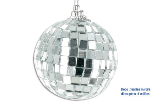 Boule à facettes - Je décore une boule - 10doigts.fr
