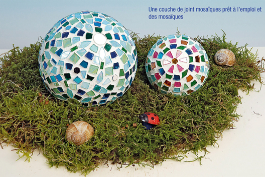 Boule polystyrène déco mosaïques - Mosaïques - 10doigts.fr