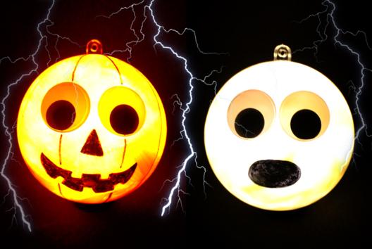 Boules lumineuses Halloween - Tutos Halloween - 10doigts.fr
