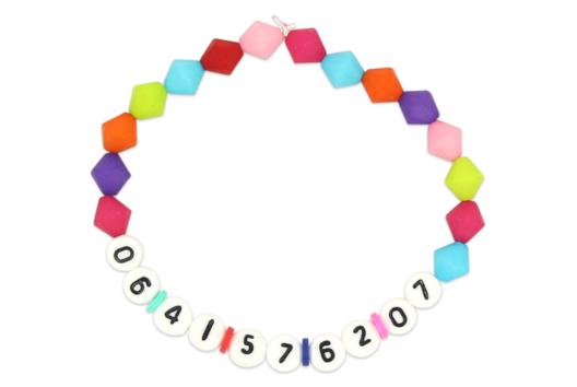 Bracelet numéro de téléphone - Tutos créations de Bijoux - 10doigts.fr