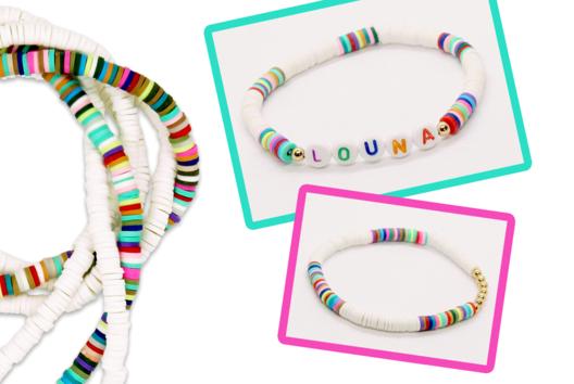 Bracelet avec des perles Heishi - Tutos créations de Bijoux - 10doigts.fr