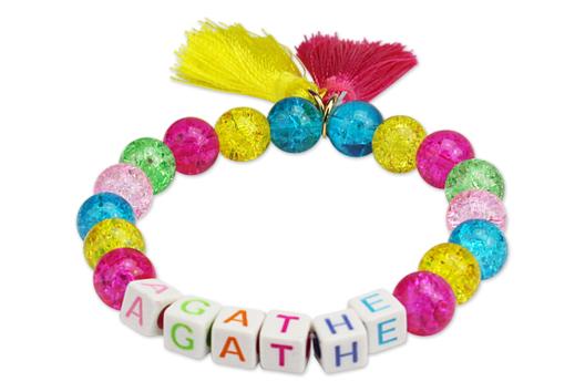 Bracelet prénom aux couleurs acidulées - Tutos créations de Bijoux - 10doigts.fr