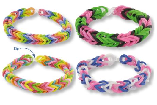 Bracelets en élastiques - Tutos Fête des Mères - 10doigts.fr