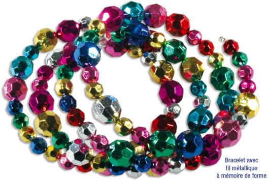 Bracelets en grosses perles à facettes - Tutos Fête des Mères - 10doigts.fr