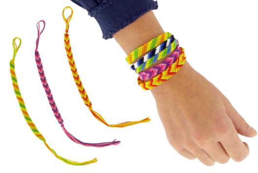 Bracelets brésiliens - Les diagonales - Tutos Fête des Mères - 10doigts.fr