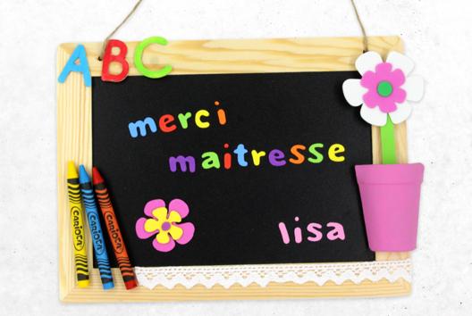Ardoise « Merci maitresse » - Décoration d'objets - 10doigts.fr