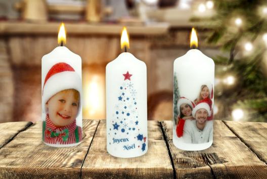 Transférer une photo sur une bougie - Tables de fêtes - 10doigts.fr
