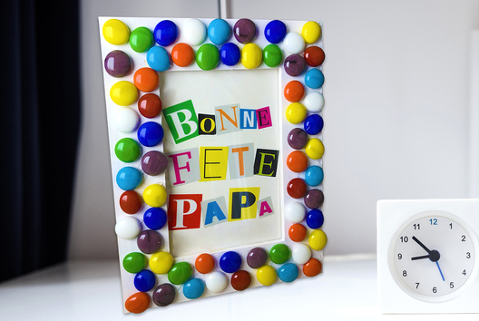 Cadre mosaïque fête des pères - Tutos Fête des Pères - 10doigts.fr