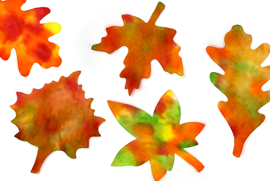 Feuilles automne avec de l'encre - Tutos Automne - 10doigts.fr