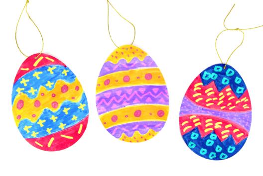 Œufs de Pâques avec des feutres magiques - Tutos Pâques - 10doigts.fr