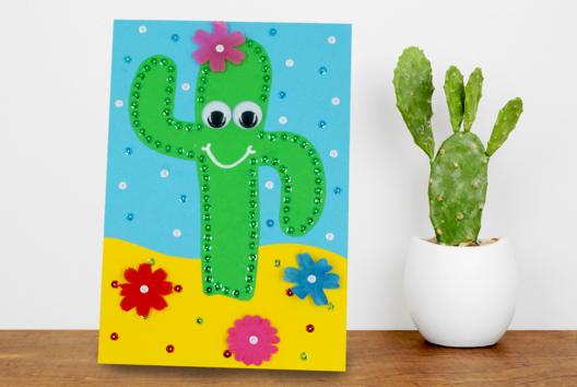 Cactus avec sequins à piquer - Sequins - 10doigts.fr