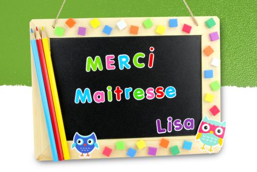 """Ardoise """"Merci maitresse"""" #2 - Tutos Idées cadeaux Ecole - 10doigts.fr"""