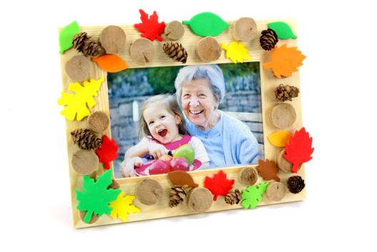 Un cadre aux couleurs de l'automne - Décoration d'objets - 10doigts.fr