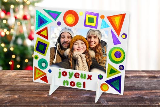 Cadre de Noël étincelant - Décoration d'objets - 10doigts.fr