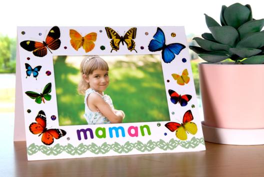 Cadre papillons - Tutos Fête des Mères - 10doigts.fr