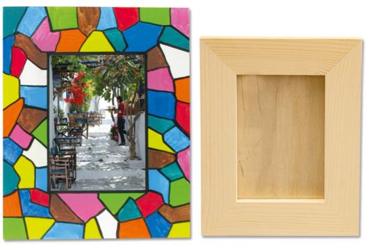Cadre vitrail - Je décore un cadre - 10doigts.fr