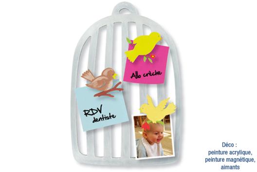 Cages à oiseaux mémo - pense-bête - La Nature - 10doigts.fr