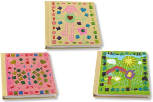 Carnets kraft déco stickers mosaïques - Décoration d'objets - 10doigts.fr