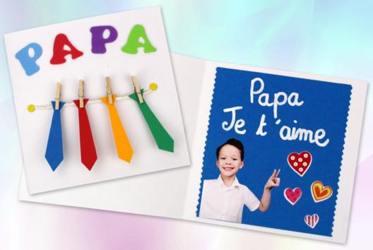 Carte cravates fête des pères - Tutos Fête des Pères - 10doigts.fr