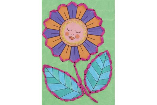 Cartes postales à colorier et à broder - Je décore une carte - 10doigts.fr