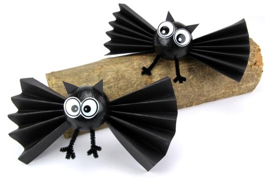 Chauve-souris d'Halloween - Tutos Halloween - 10doigts.fr