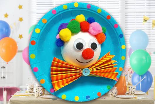 Tableau clown en 3D - Tutos Carnaval - 10doigts.fr