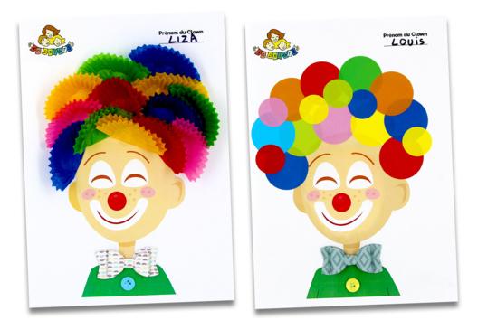 Printable Clown à décorer - Tutos Carnaval - 10doigts.fr