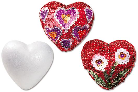 Coeurs pailletés pour les fêtes - Sequins - 10doigts.fr